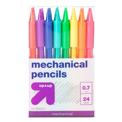 Mechanical Pencils, 0.7mm, 24ct - Multicolor - Up&Up™ - image 1 of 1
