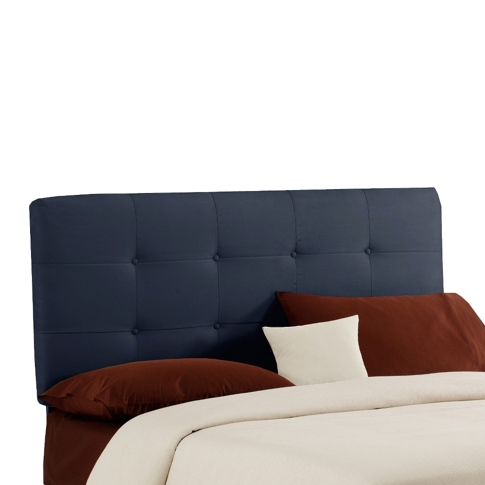 Dolce Microsuede Headboard - Premier Lazuli Blue - California King - Skyline Furniture