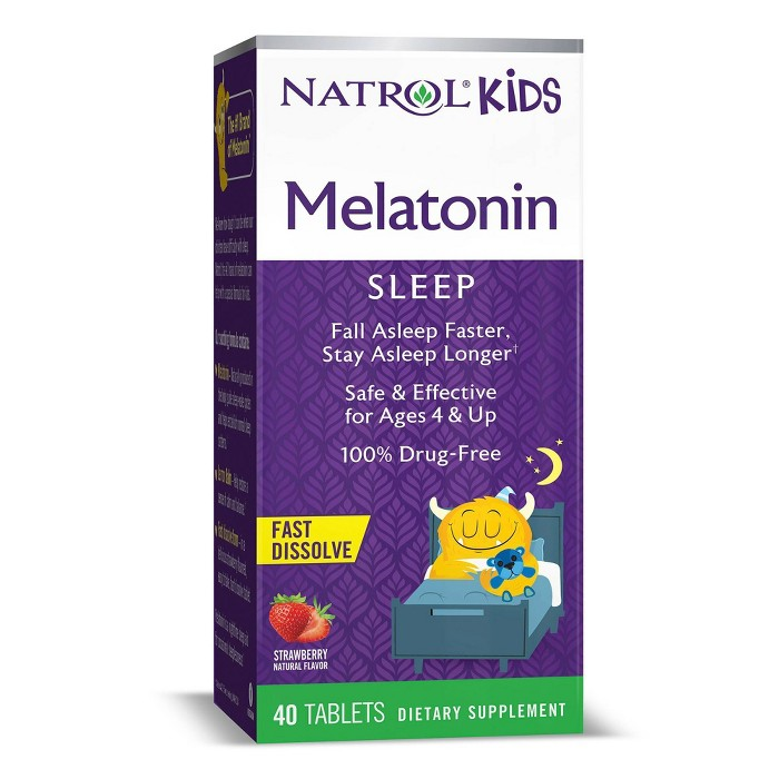 Natrol Kids Melatonin Fast Dissolve Tablets - Strawberry - 40ct - image 1 of 4