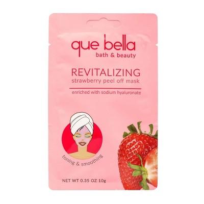 Que Bella Revitalizing Strawberry Peel Off Face Mask - 0.35oz