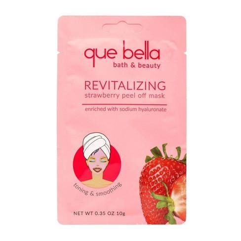 Que Bella Revitalizing Strawberry Peel Off Face Mask 0 35oz Target