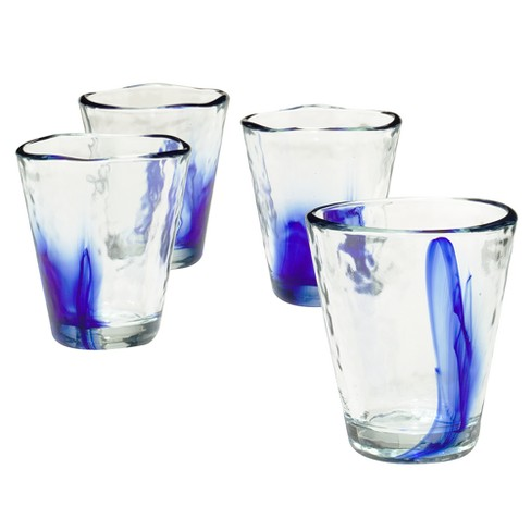 Murano On the Rocks Tumblers 9oz Set of 4 - Cobalt Blue - image 1 of 1