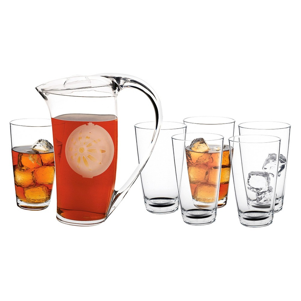 Image of CreativeWare 7pc Pitcher and Tumblers Set, Clear