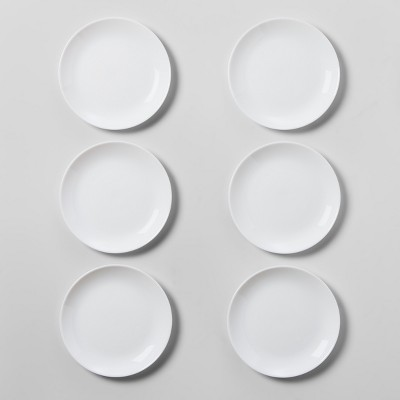 Glass Salad Plates 7.4  White Set of 6 - Made By Design™
