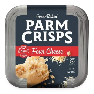 Parm Crisps Four Cheese Parmesan Crisps Tub - 3oz