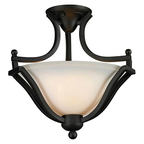Semi Flush Mount Ceiling Lights with Matte Opal Glass (Set of 2) - Z-Lite - image 1 of 1