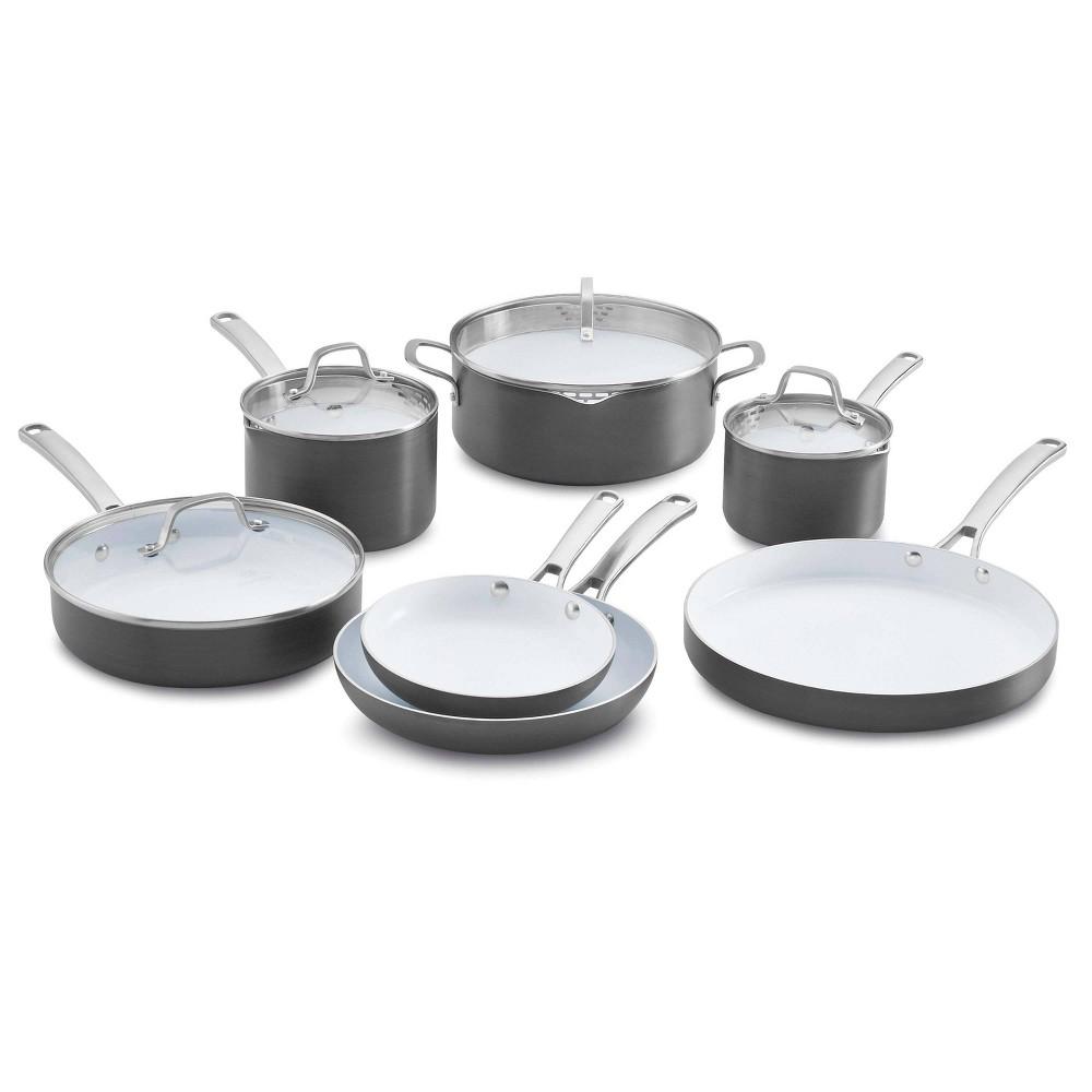 Image of Calphalon Classic 11pc Ceramic Nonstick Cookware Set