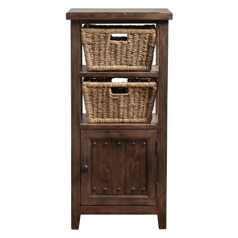Tuscan Retreat Basket Stand with Two Baskets - Hillsdale Furniture - image 1 of 2