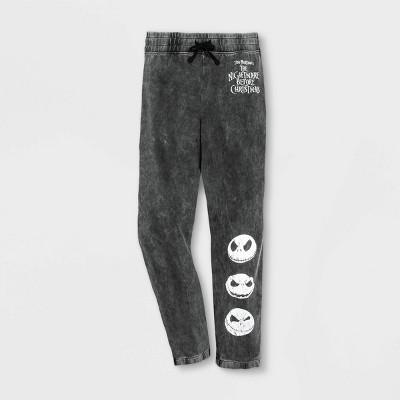 Men's Disney The Nightmare Before Christmas Jogger Pants - Gray - Disney Store