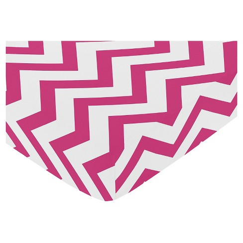 Sweet Jojo Designs Pink & White Chevron Fitted Crib Sheet - Pink - image 1 of 1