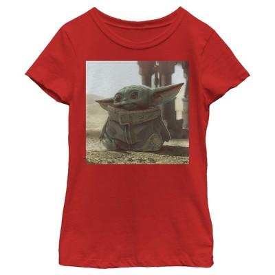 Girl's Star Wars The Mandalorian The Child Square Frame T-Shirt