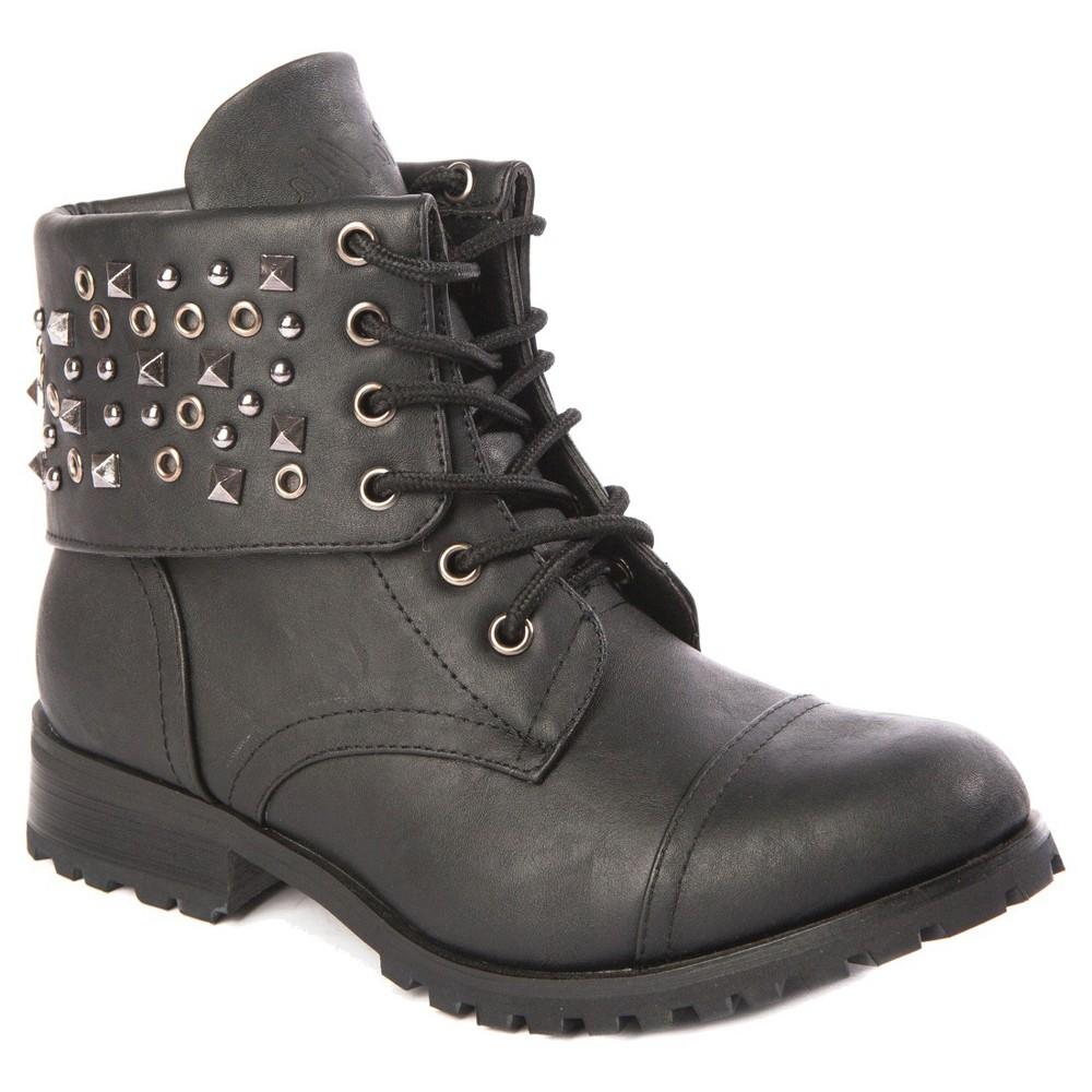 Girls' Gia-Mia Studz Convertible Boots Black 1