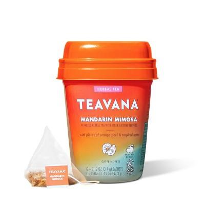 Teavana Mandarin Mimosa, Herbal Tea With Orange Peel & Tropical Notes, Caffeine Free (1 Pack, 12 Sachets Total)