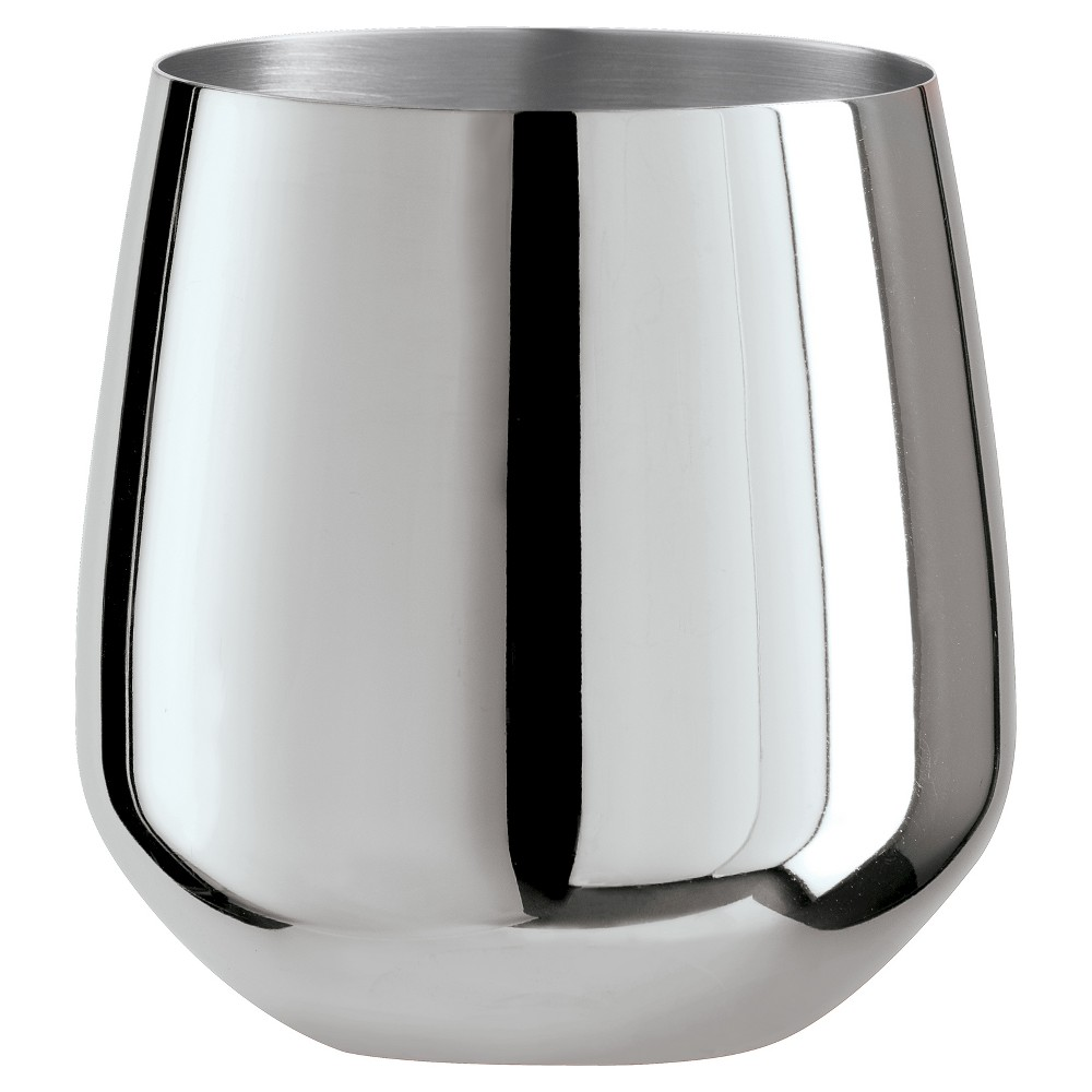Image of Oggi 17oz Stainless Steel Wine Glass - Set of 2, Silver