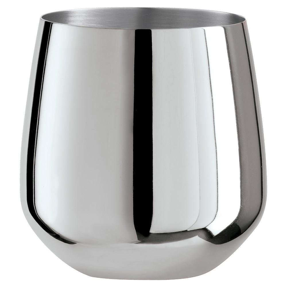 Oggi 17oz Stainless Steel Wine Glass - Set of 2, Silver