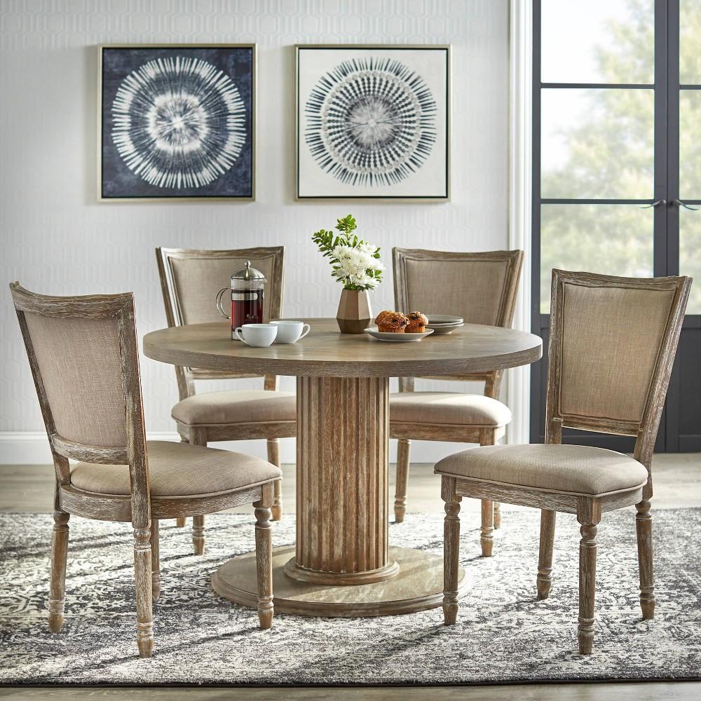 Image of 5pc Isla Dining Set Rustic Natural - Lifestorey
