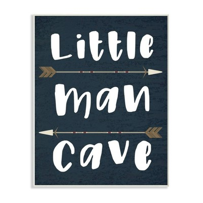 Little Man Cave Arrows Wall Plaque Art - Stupell Industries