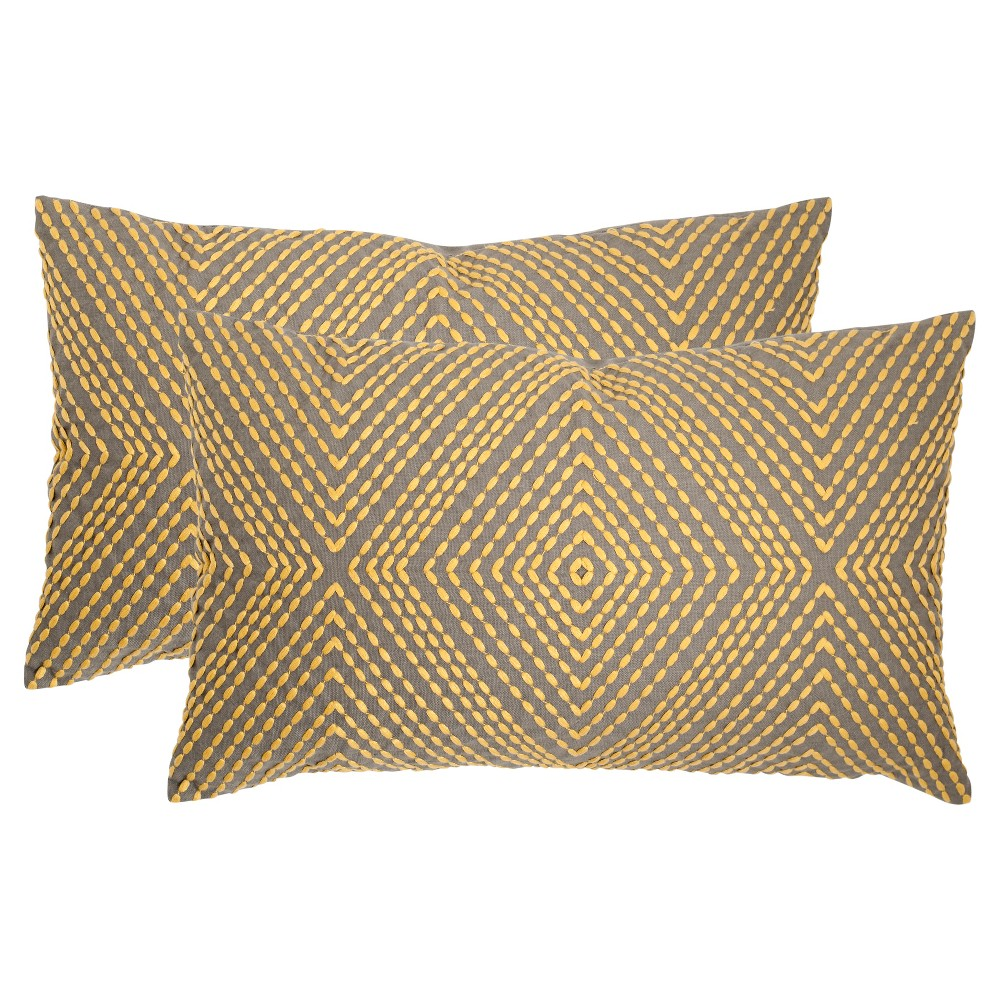 Yellow Set Throw Pillow - Safavieh