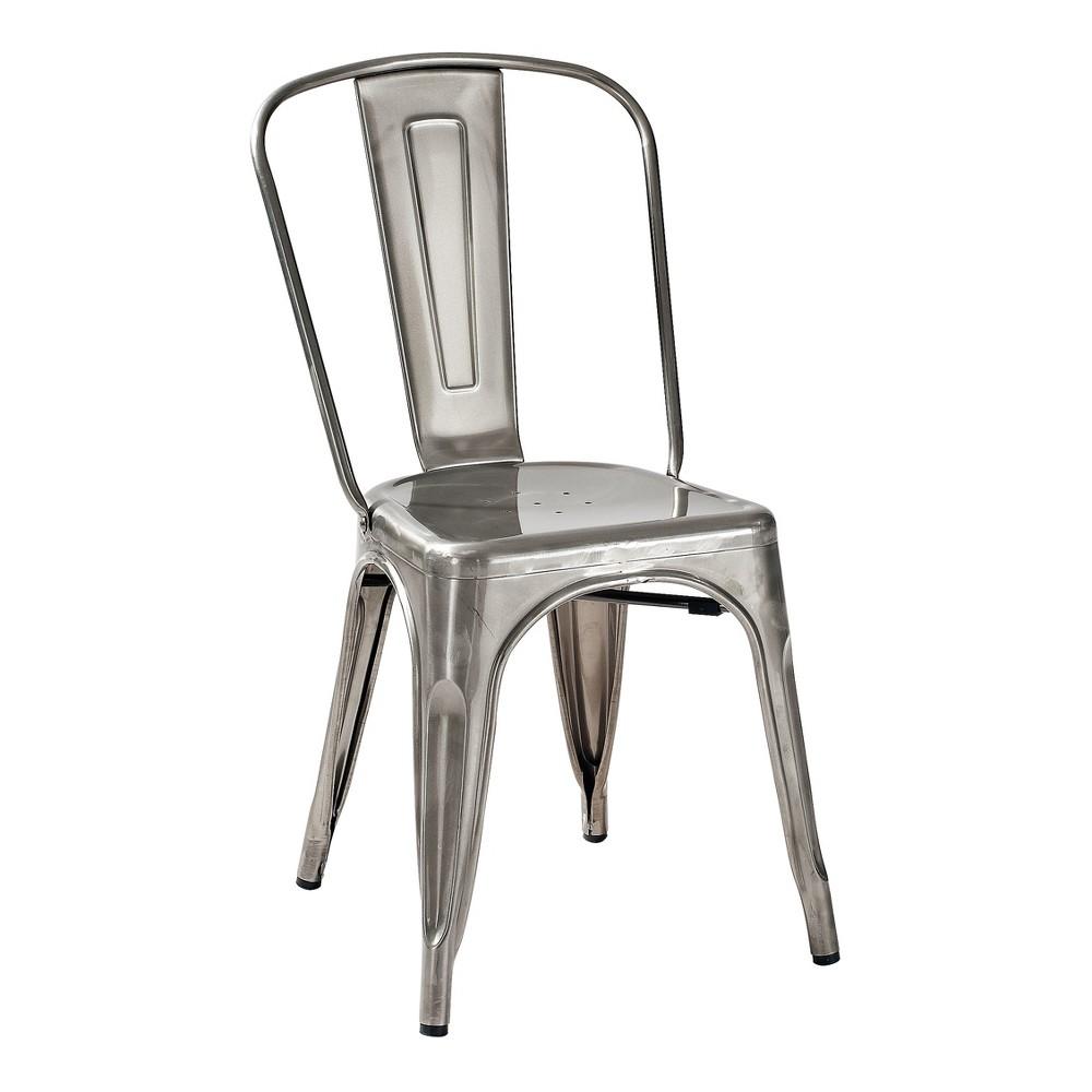 Amelia Metal (Grey) Café Chair (Set of 2) Galvanized - Crosley