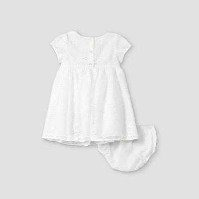 Mia & Mimi Baby Girls' Lace Dress - White