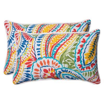 2pc Outdoor Lumbar Throw Pillow Set Ummi - Pillow Perfect