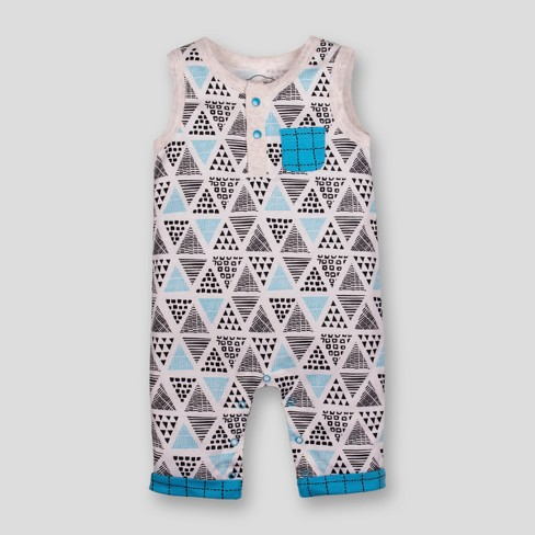 Lamaze Baby Boys' Organic Cotton Geometric Print Romper - Blue - image 1 of 2