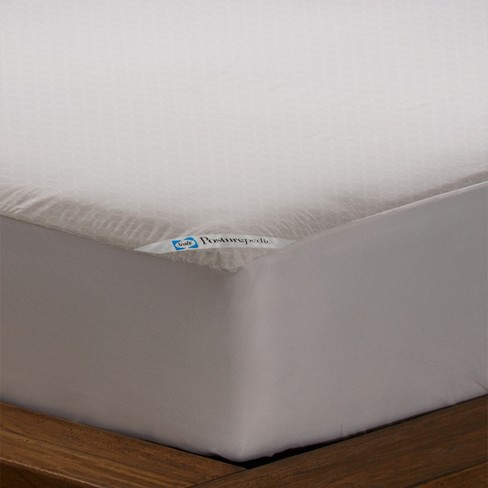 Sealy Posturepedic Allergy Protection Zippered Mattress Protector - White - image 1 of 3