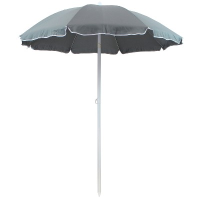 Steel Beach Tilt Umbrella 5' - Sage - Sunnydaze Decor