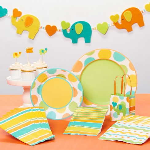 Baby Elephants Lunch Solid Napkin - PAPYRUS - image 1 of 2