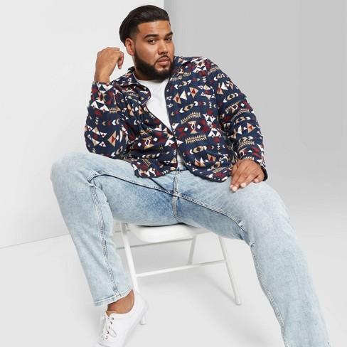 Men's Big & Tall Full-Zip Fleece Jacket - Original Use™ Blue - image 1 of 3