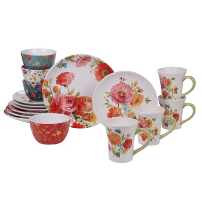 16pc Earthenware Country Fresh Dinnerware Set - Certified International