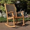 Dunham Solid Teak & Wicker Patio Rocking Chair - Cambridge Casual - image 4 of 4