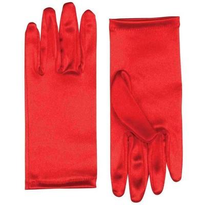"Forum Novelties 9"" Red Satin Adult Female Costume Gloves"