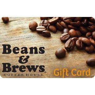 Beans & Brew Coffee House Gift Card (Email Delivery)