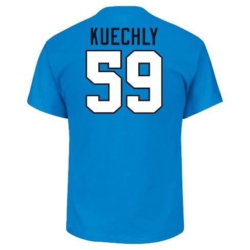 huge selection of dbca6 10b32 Carolina Panthers Men's Luke Kuechly Jersey T-Shirt - XXL