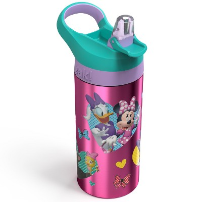 Disney Minnie Mouse 19.5oz Stainless Steel Water Bottle Pink/Green - Disney store