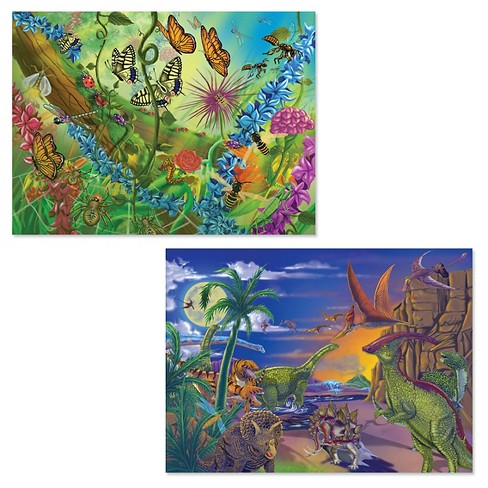Melissa And Doug Bugs And Dinosaurs Puzzles 120pc - image 1 of 1