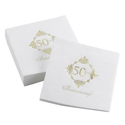 50ct Golden Anniversary Napkins