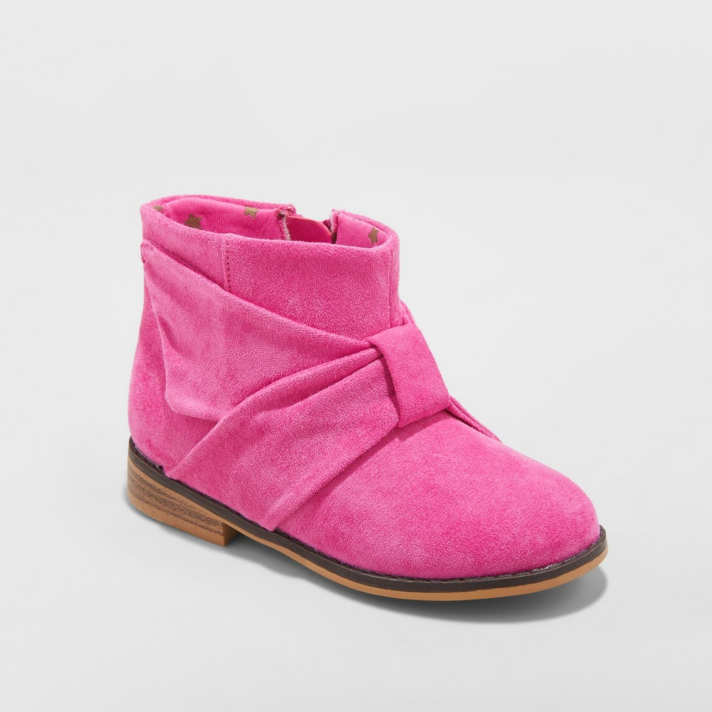 Toddler Girls' Valene Ankle Fashion Boots - Cat & Jack Fuchsia (Pink) 12