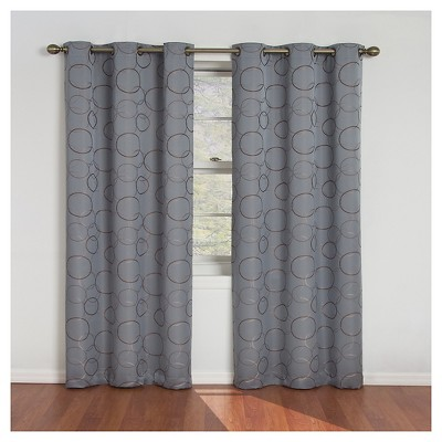 Eclipse Thermaback Meridian Blackout Curtain Panel - Gray/River Blue (42 x84 )