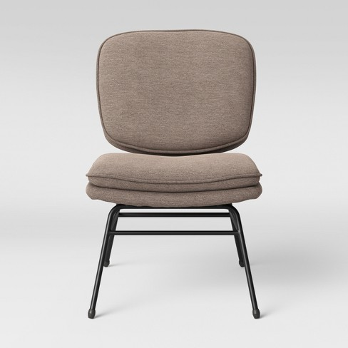 Fletcher Slipper Chair with Black Metal Legs Dark Gray - Project 62™ - image 1 of 4