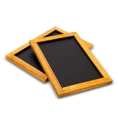 Blue Panda 2-Pack Chalkboard Vintage Menu Sign Blackboard Black Chalk Board 10 x 7 in