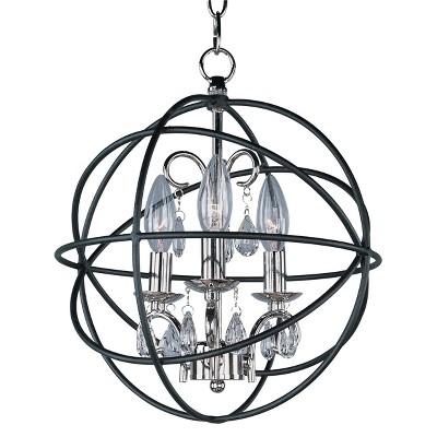 "14"" Orbit 3-Light Pendant Anthracitce/Polished Nickel - Maxim"