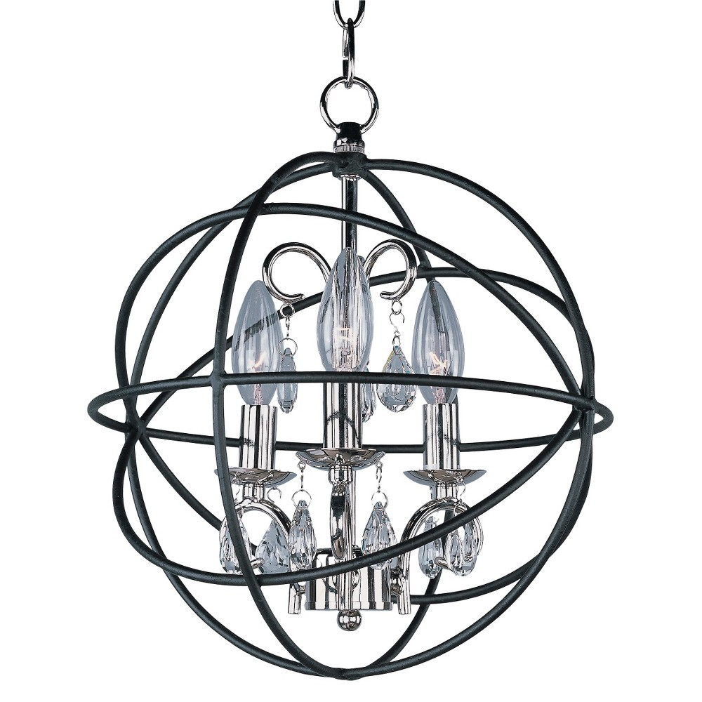 Image of Maxim Orbit 3-Light Pendant Bronze