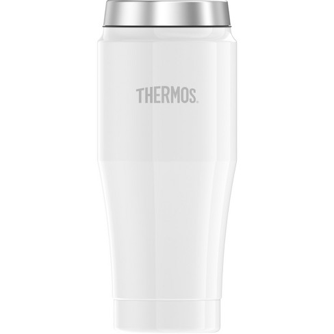 Thermos 16oz Stainless Steel Vacuum Insulated Coffee Travel Mug Matte White - image 1 of 2