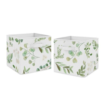 2pk Botanical Leaf Fabric Bins - Sweet Jojo Designs