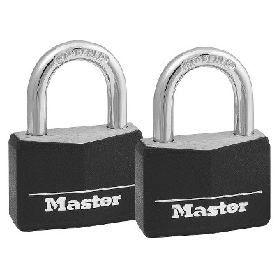 Master Lock 2pk 40mm Key Lock Black