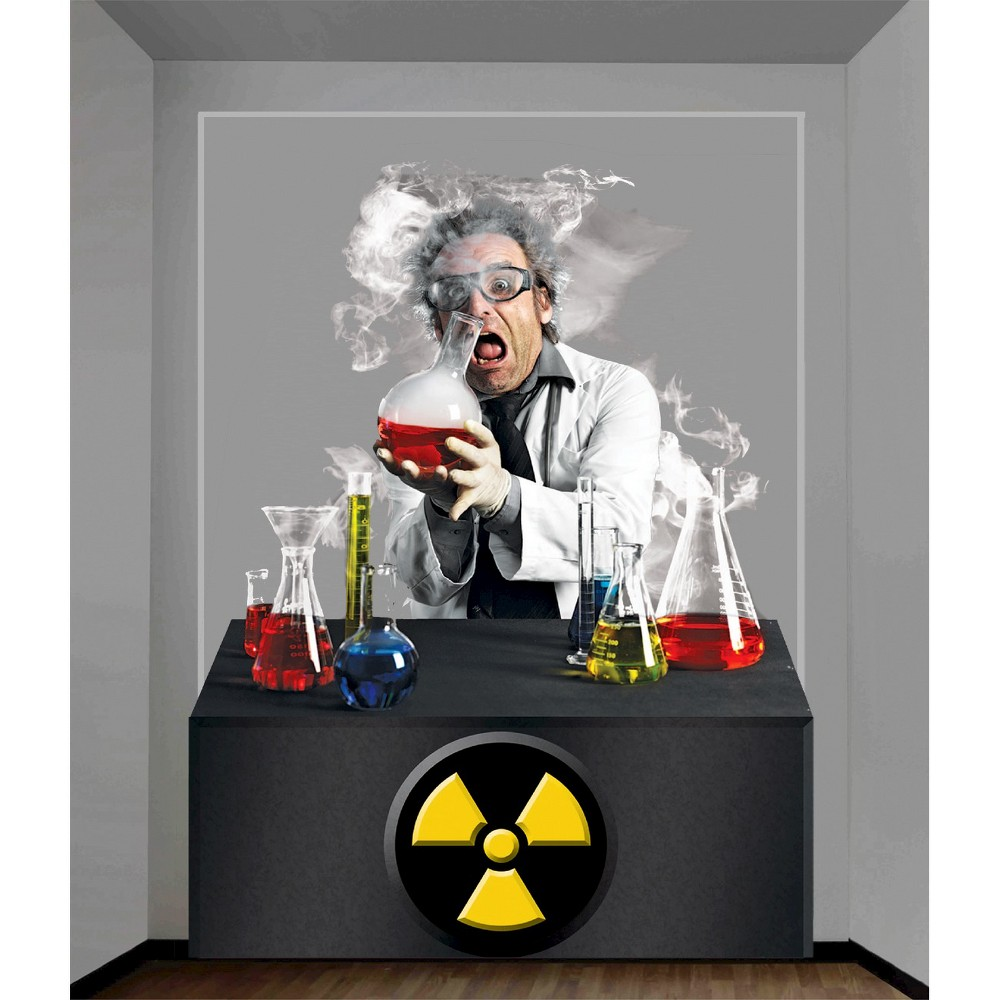 Image of Halloween Scientist Wall Decor 4' x 5', Multi-Colored