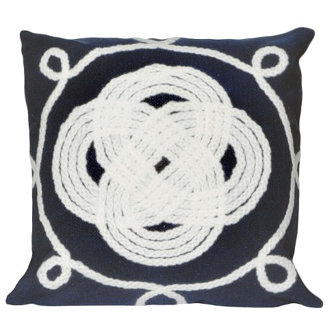 Ornamental Knot Indoor/Outdoor Throw Pillow - Liora Manne - image 1 of 1