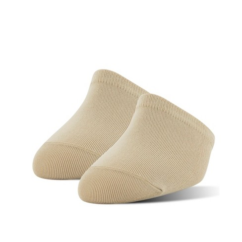 Peds Women's Grippers Tactel Nylon 2pk Athletic Socks - Nude One Size - image 1 of 2